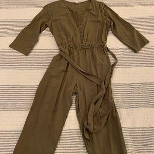 Hunter green jumpsuit